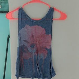 Blue/pink Aeropostale cut off women's xs tank top